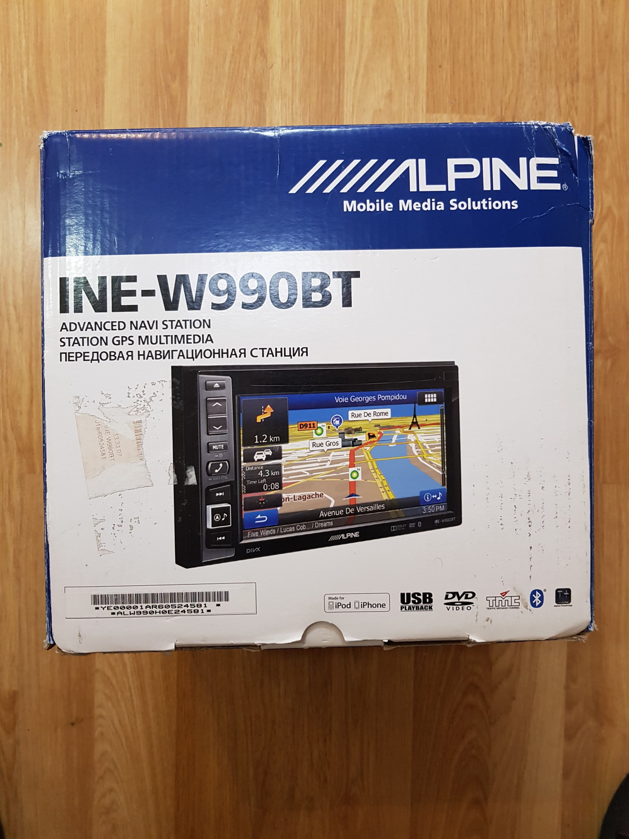 hight resolution of alpine ine w990bt double din 6 1 sat nav radio dvd cd