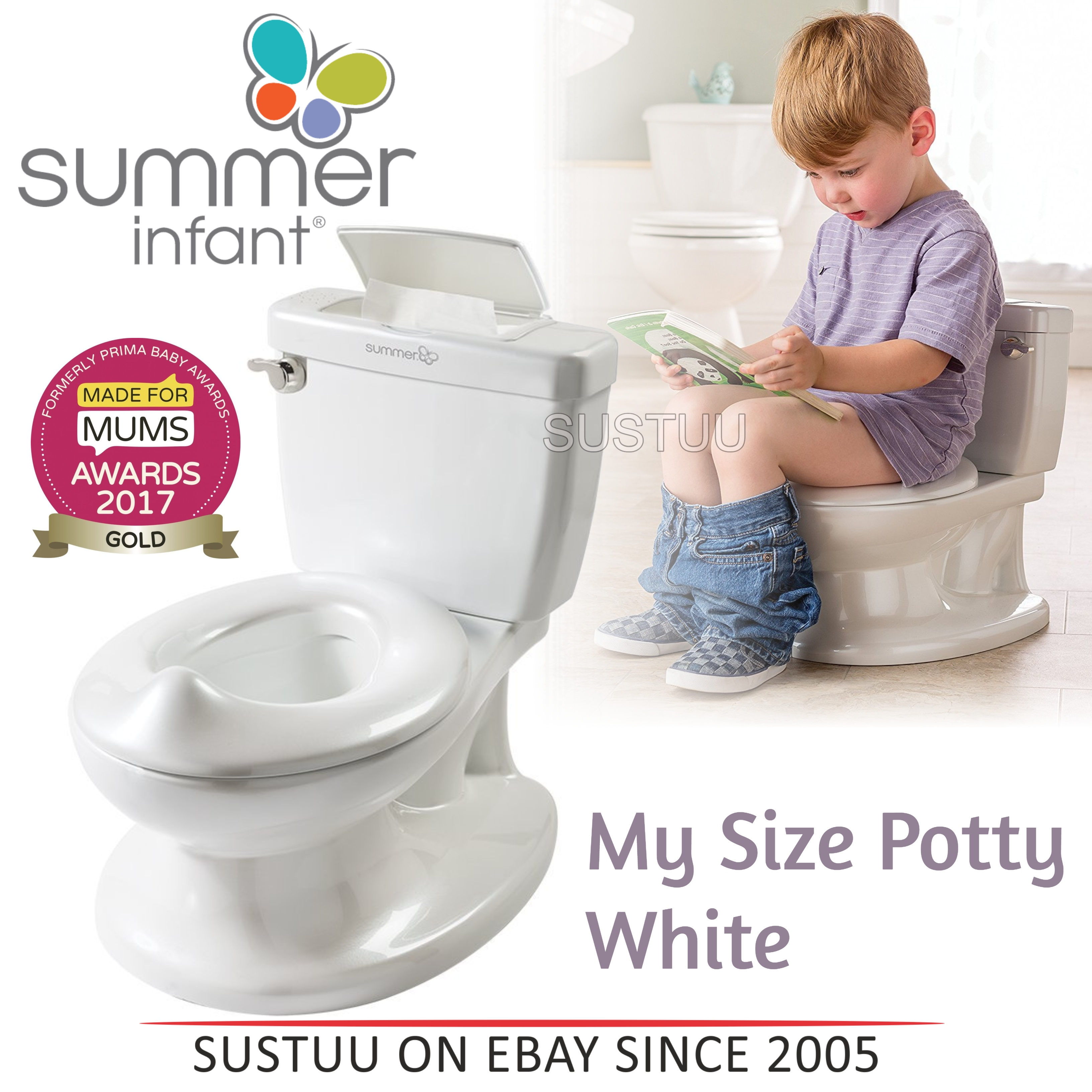 summer potty chair used pedicure chairs no plumbing infant my size baby kid s toilet trainer seat flip up details about white