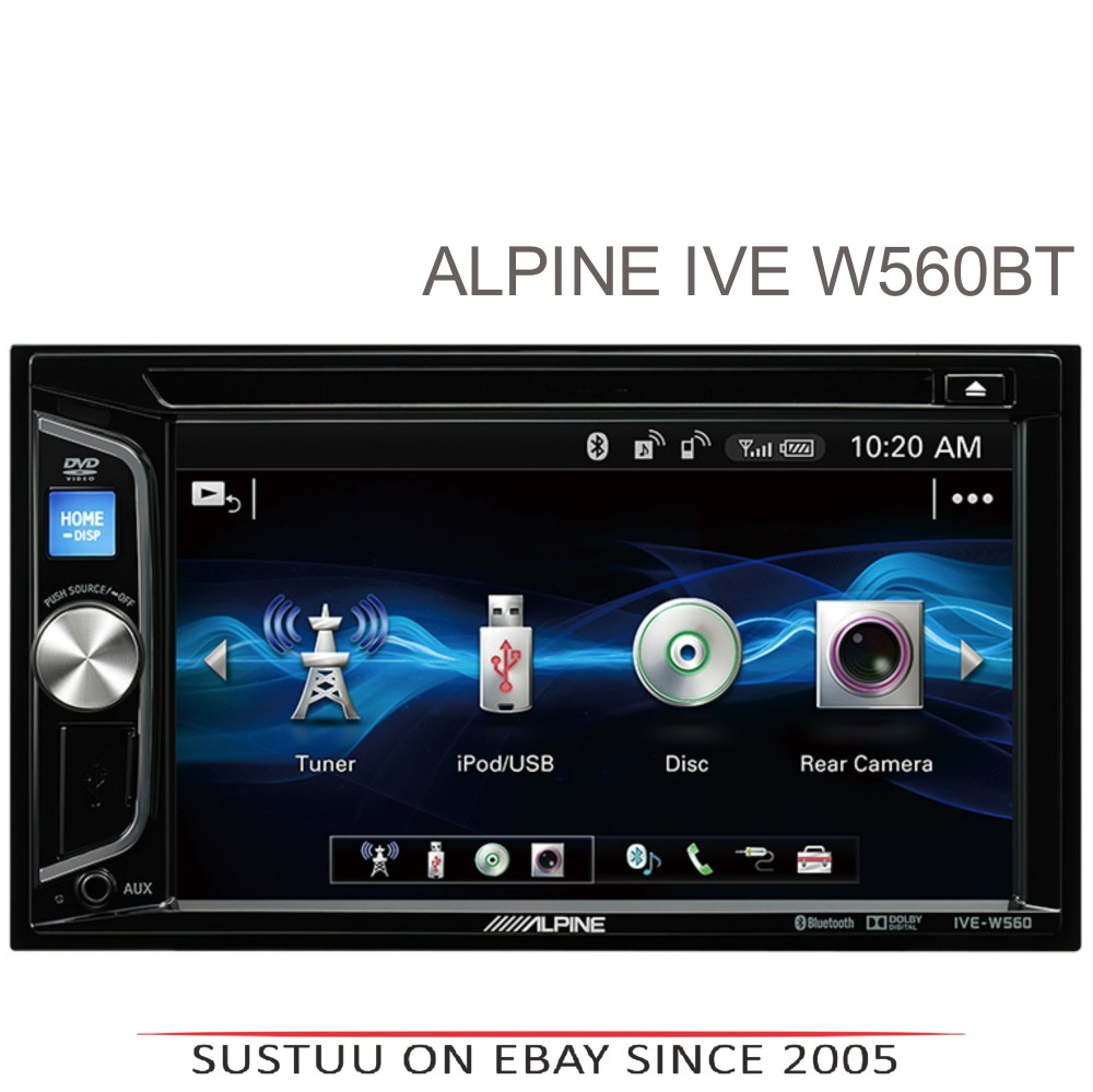 medium resolution of alpine 6 2 double din stereo media cd dvd usb aux