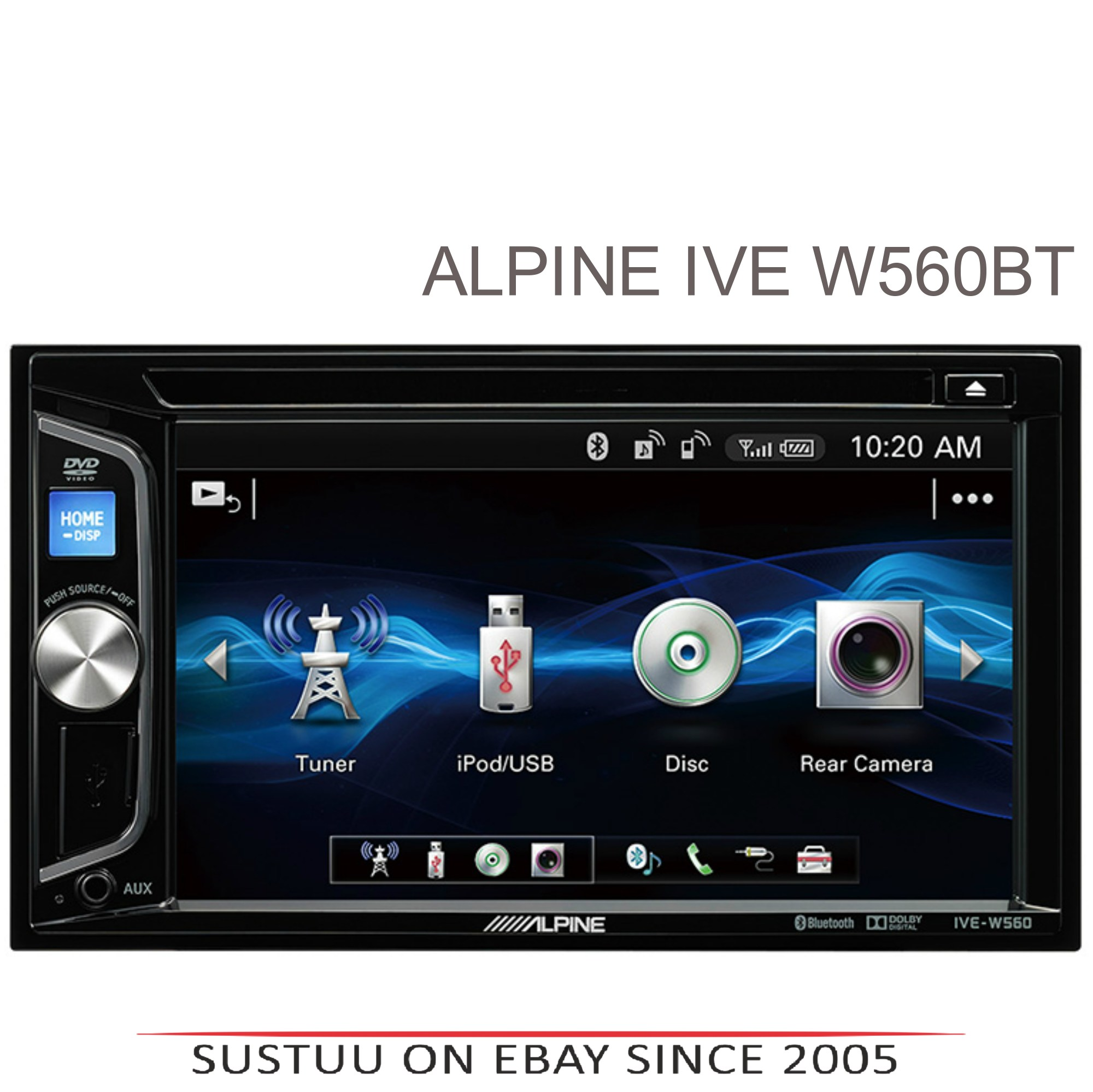 hight resolution of alpine 6 2 double din stereo media cd dvd usb aux