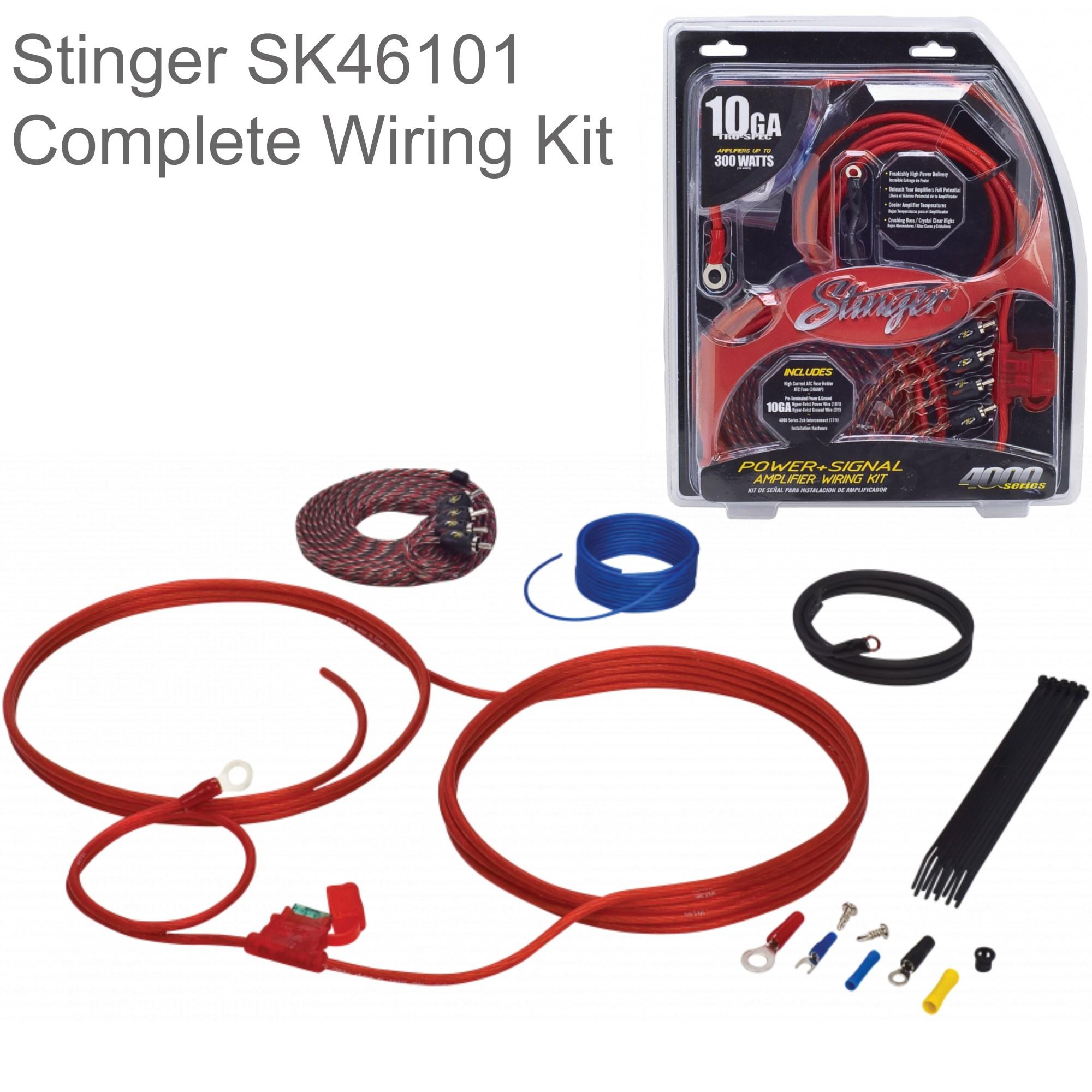 hight resolution of stinger 10 gauge 4000 series car audio amplifier installation wiring kit sk46101 sustuu