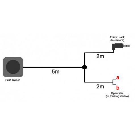 Roadhawk Remote Alarm Dual Cable Plugs DC-2 Alarm + Manual