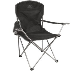 Camp Folding Chairs Chicco High Replacement Covers Highlander Chair Black Camping Furniture