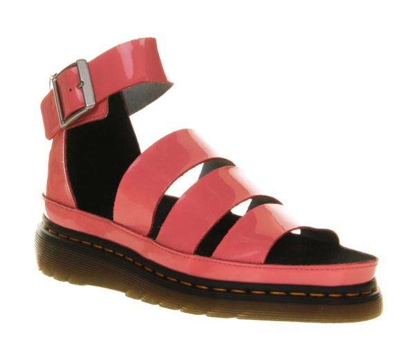 Womens Dr. Martens Clarissa Sandal Pink Patent Leather Sandals