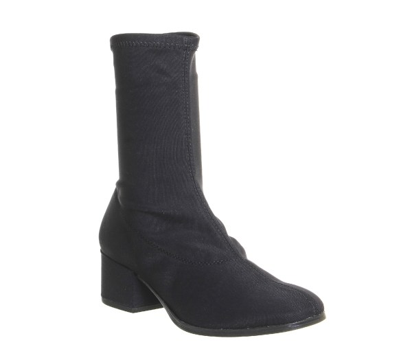 Womens Vagabond Daisy Stretch Boots Black Suede