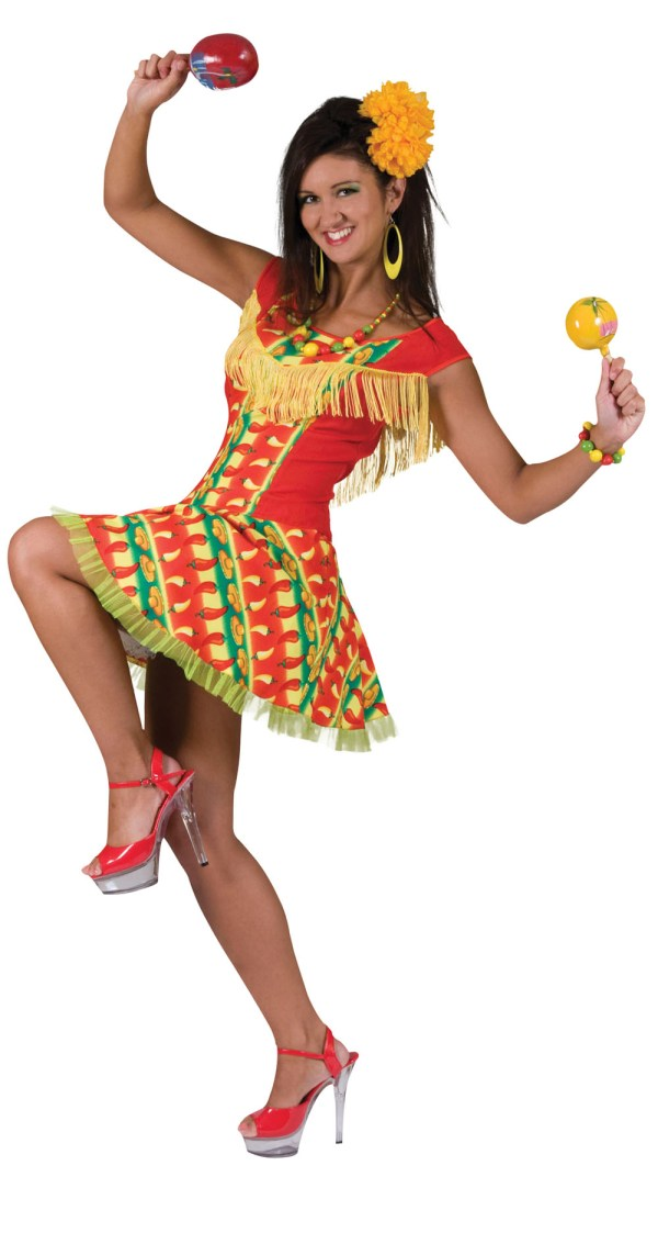 Womens Mexican Fancy Dress Costume Mexico Mariachi