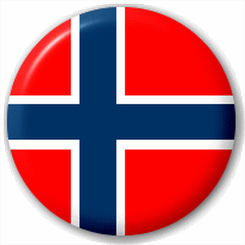Small 25mm Lapel Pin Button Badge Novelty Norway
