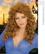 long curly hair blonde wig country
