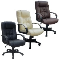 Cow Split Leather High Back Office Chair PC Computer Desk ...