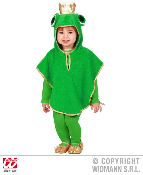 Childrens Frog Fancy Dress Costume Toad Animal Outfit 1-2