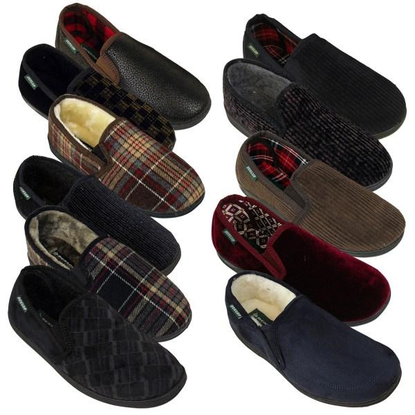 Men Boys Dunlop Classic Luxury Twin Gusset Slipper Gents