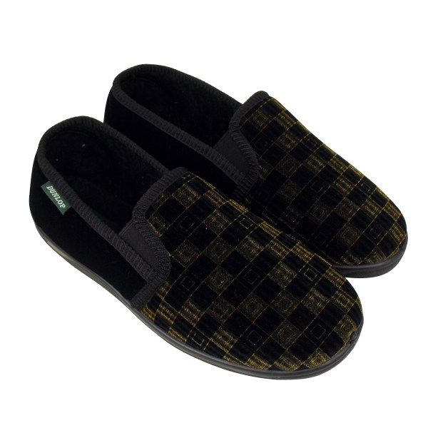 Mens Boys Dunlop Classic Luxury Twin Gusset Slipper Gents