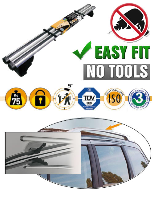 Merc Vito Van Roof Rails Aero Bars Rack 96 On Easy Fit