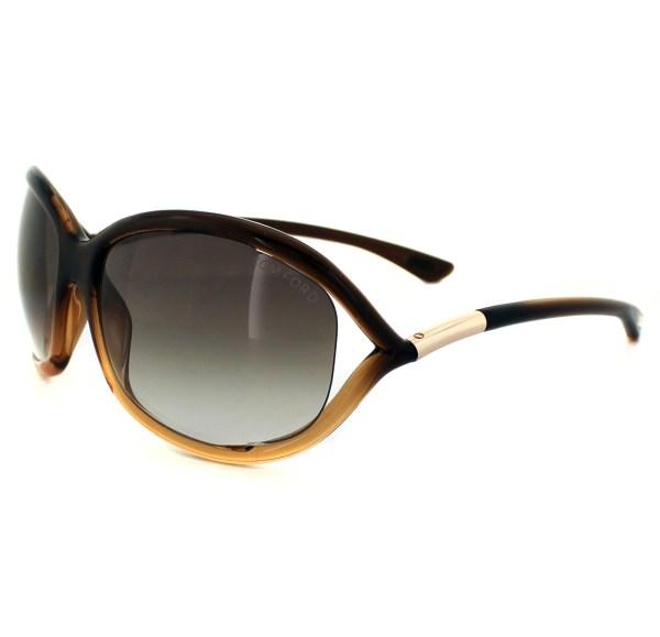 Dark Brown Tom Ford Jennifer Sunglasses