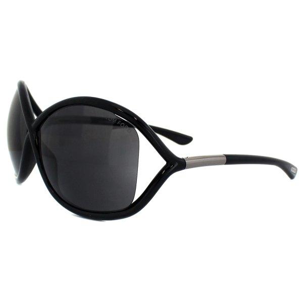 Tom Ford Sunglasses 0009 Whitney 199 Shiny Black Smoke