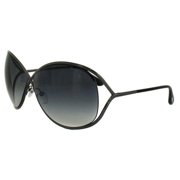 Tom Ford Sunglasses 0130 Miranda 08b Shiny Gunmetal Grey