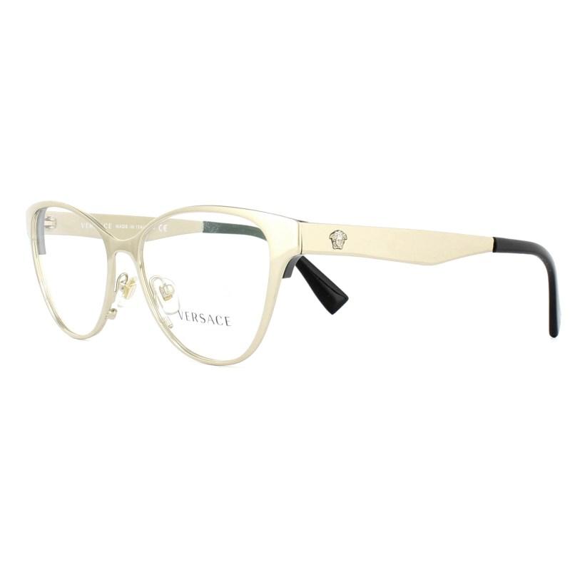 16c04ea37b Versace Gl Frames 1245 1252 Pale Gold And Black 53mm Womens. New Versace  Eyegl Frames 1175b 1002 Gold Sz 53 For Women Men 100 Authentic