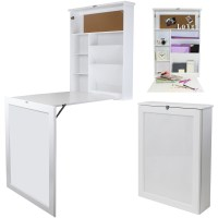 HARTLEYS WALL MOUNTED FOLD OUT DROP-LEAF TABLE/FOLDING ...