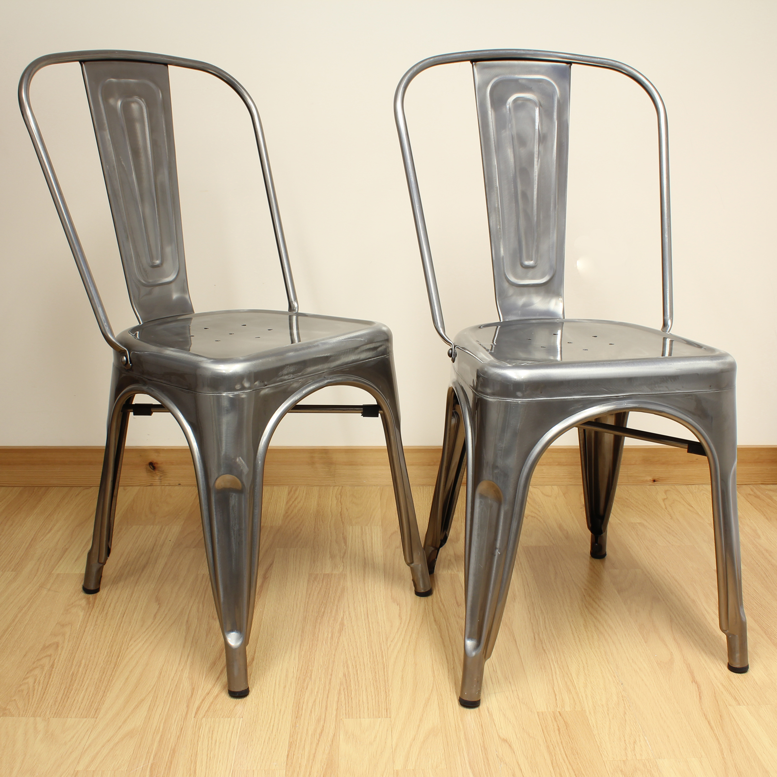 Metal Dining Chairs Industrial Set Of 2 Gunmetal Metal Industrial Dining Chair Kitchen