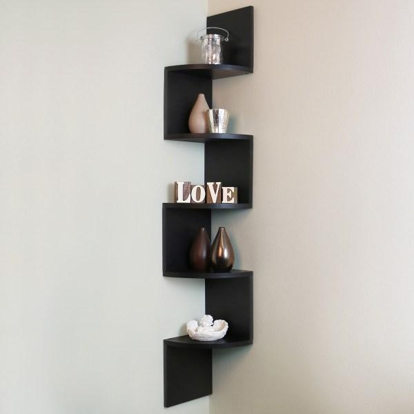 Floating Corner Shelves Wall