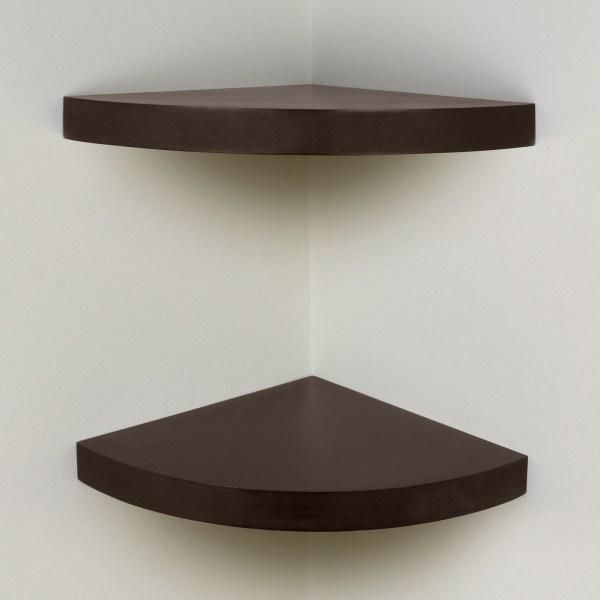 Floating Corner Wall Shelf Wood