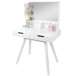 Professional Makeup Chair Uk Herman Miller Sale Hartleys White Dressing Table Jewellery Storage