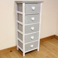 White & Grey Wooden Cabinet For Girls Bedroom/Furniture ...