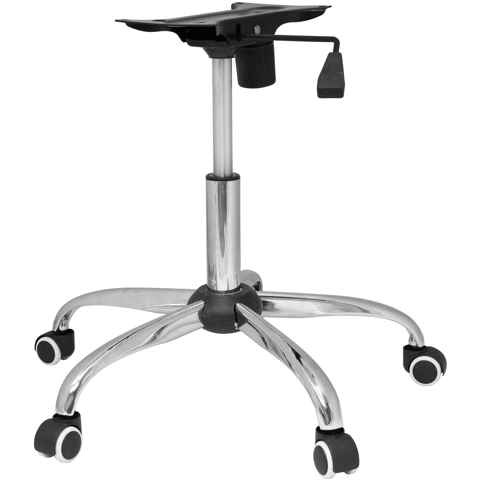 chair revolving steel base with wheels personalized kids rocking chrome office refurbishment kit castor