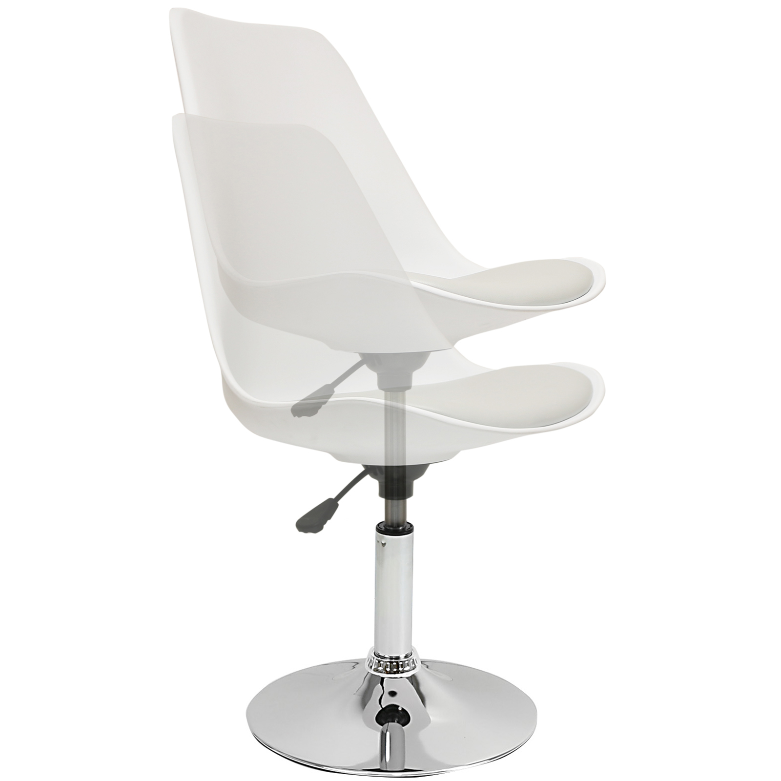 white swivel desk chair uk baby shower rental in boston ma hartleys grey and seat tulip reception
