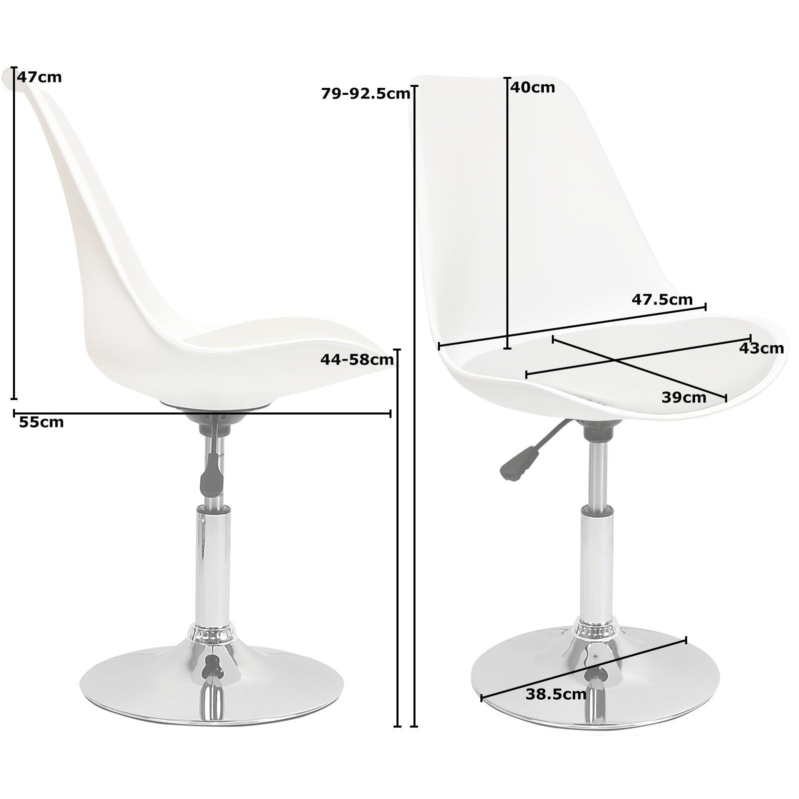 white swivel desk chair uk and ottoman target hartleys grey seat tulip reception