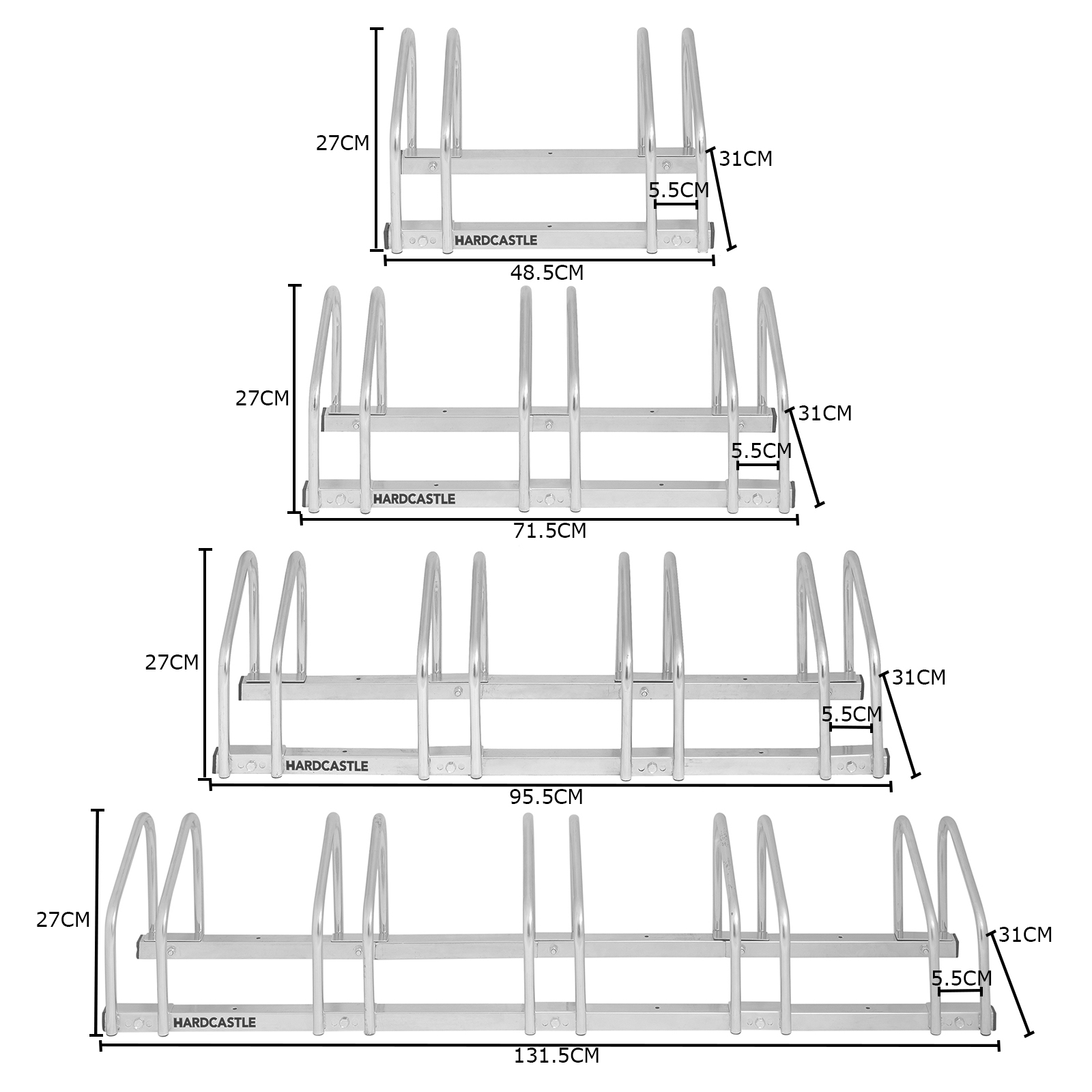 2 3 4 5 Bike Wall Amp Floor Storage Locking Stand Garage Shed Bicycle Cycle Rack