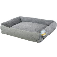 Sofa Style Pet Bed Furniture Protector Cameron Me And My Quilted Grey Fleece Fold Out Cat Dog