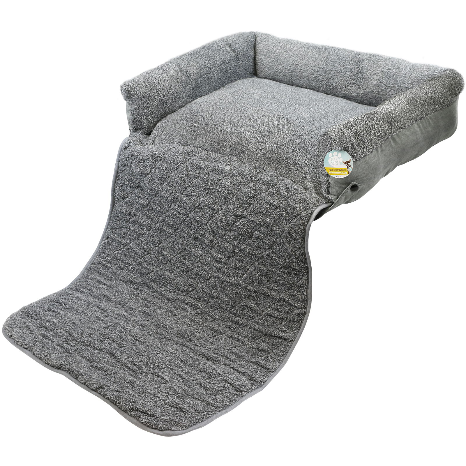 sofa style pet bed furniture protector broyhill sleeper sofas me and my quilted grey fleece fold out cat dog