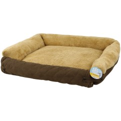 Sofa Style Pet Bed Furniture Protector 2 Seater Brown Rattan Me And My Quilted Fleece Fold Out Cat Dog