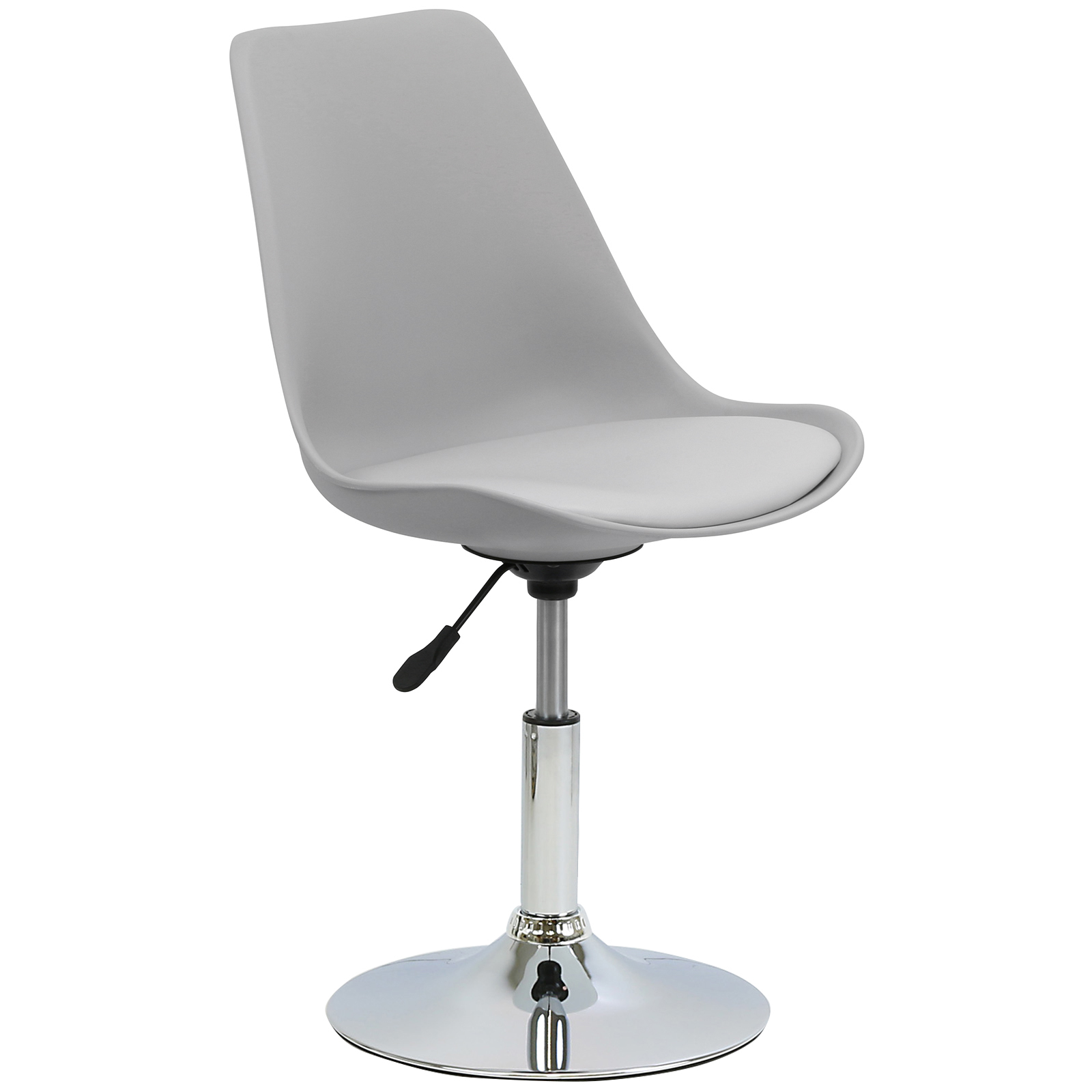 swivel office chair base pedicure chairs used hartleys grey seat tulip desk reception dining
