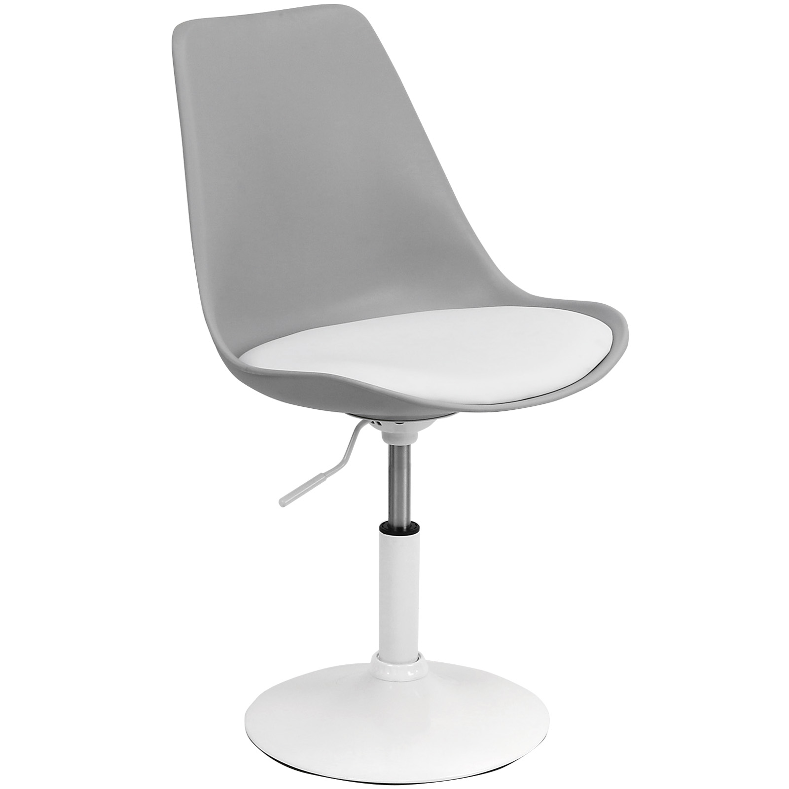 swivel office chair base globo stand hartleys white and grey seat tulip desk reception