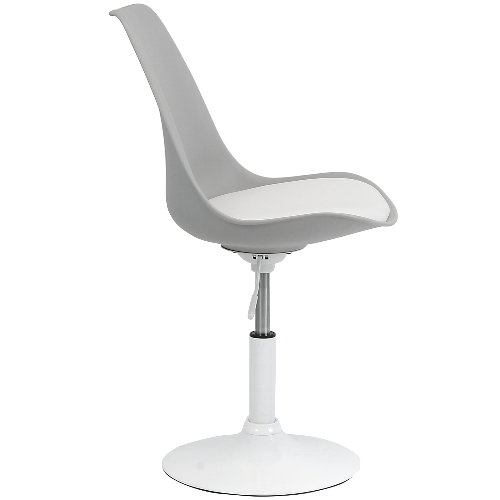 swivel office chair base revolving for back pain hartleys white and grey seat tulip desk reception