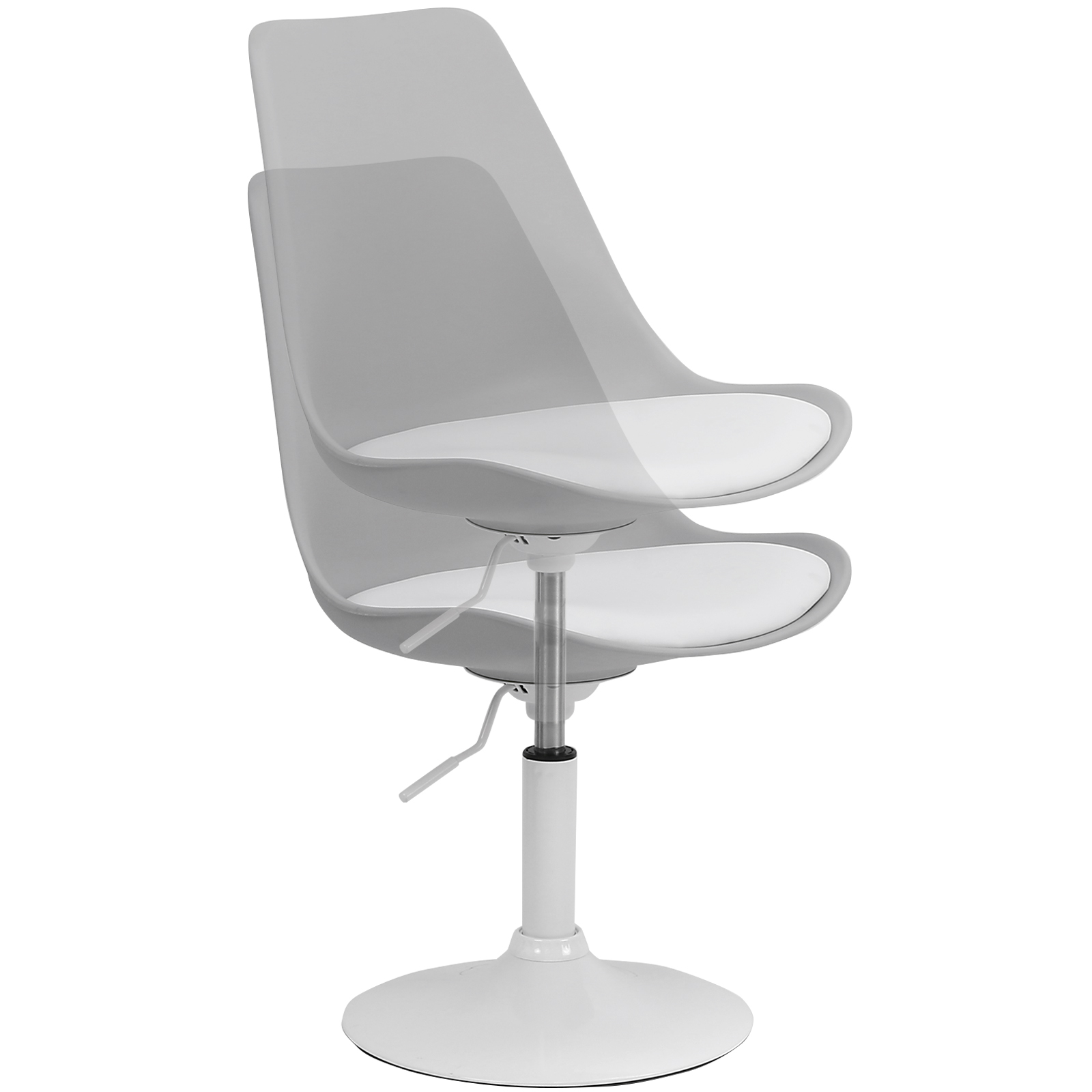 White Swivel Desk Chair Hartleys White And Grey Seat Tulip Swivel Desk Reception