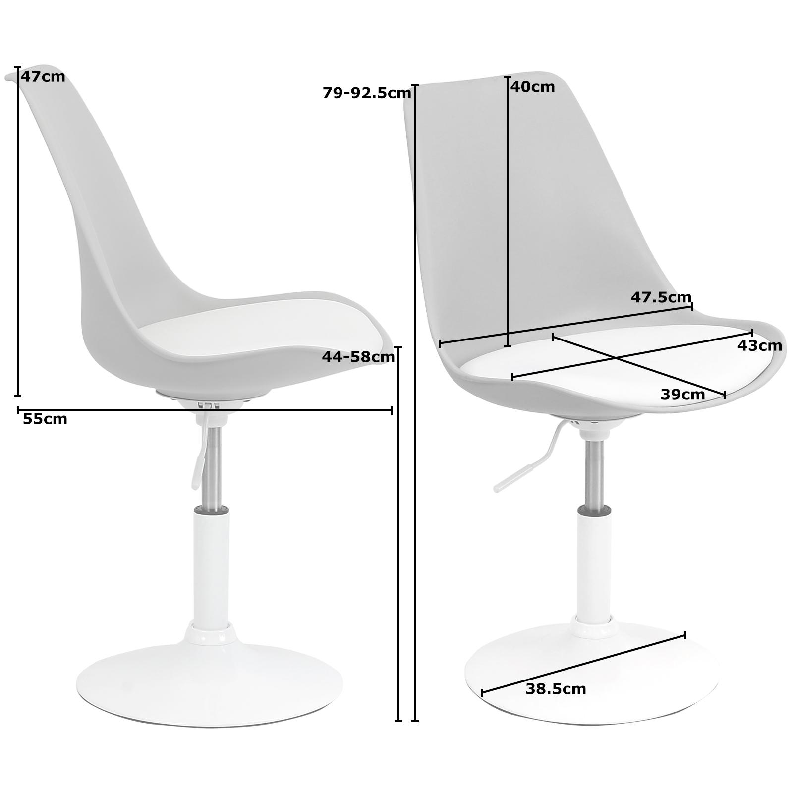 white swivel desk chair uk bedroom gumtree ferndown hartleys and grey seat tulip reception