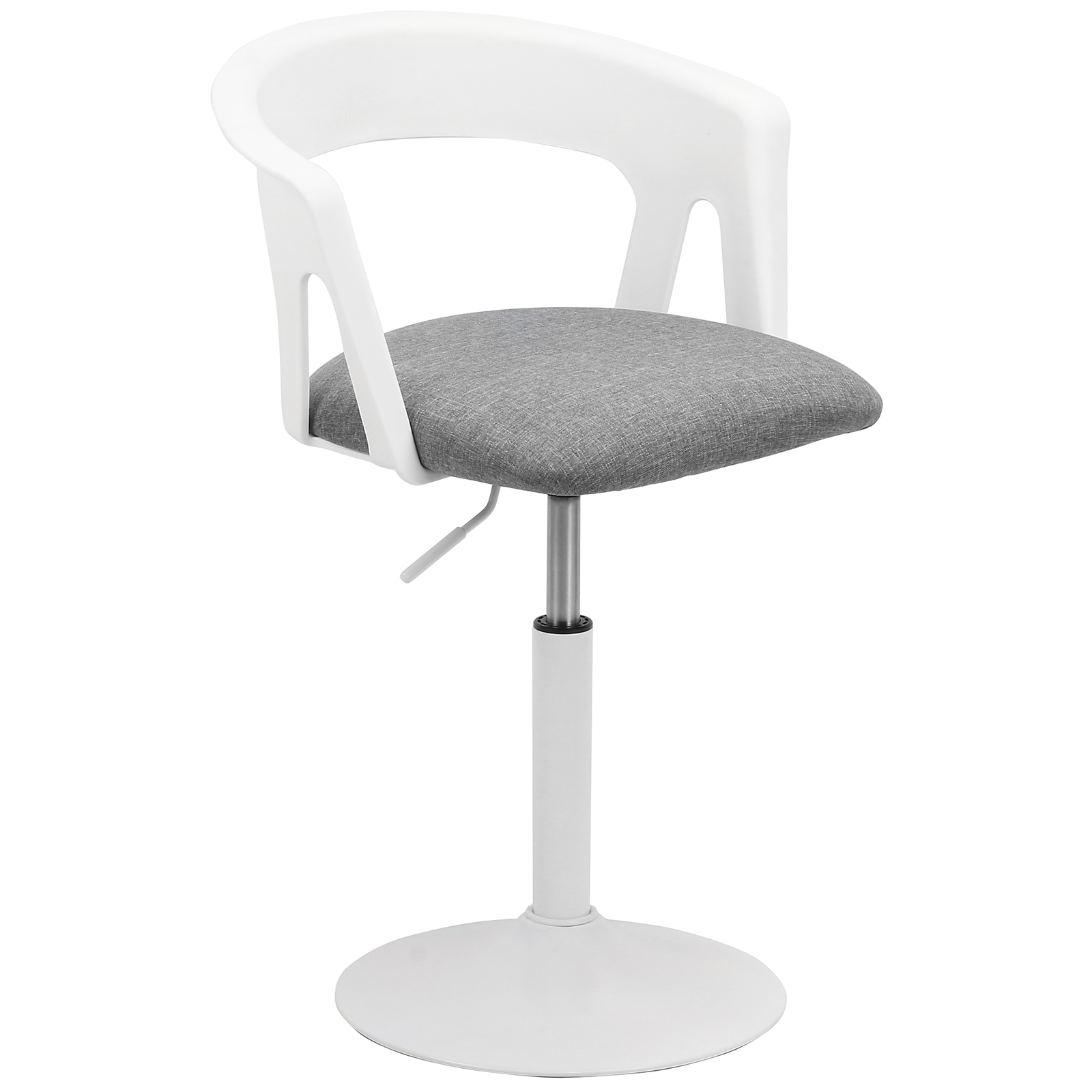 White Swivel Desk Chair Hartleys White Grey Fabric Swivel Chair Home Office