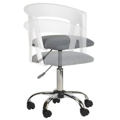 Grey Fabric Swivel Office Chair Patio Metal Chairs And Tables Hartleys White Adjustable Computer Pc