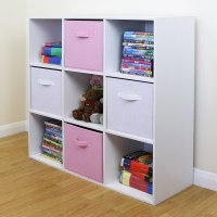 9 Cube Kids Pink & White Toy/Games Storage Unit Girls/Boys ...