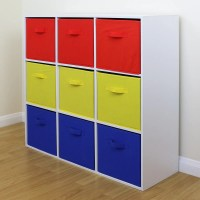 9 Cube Kids Red Yellow & Blue Toy/Games Storage Unit Girls ...