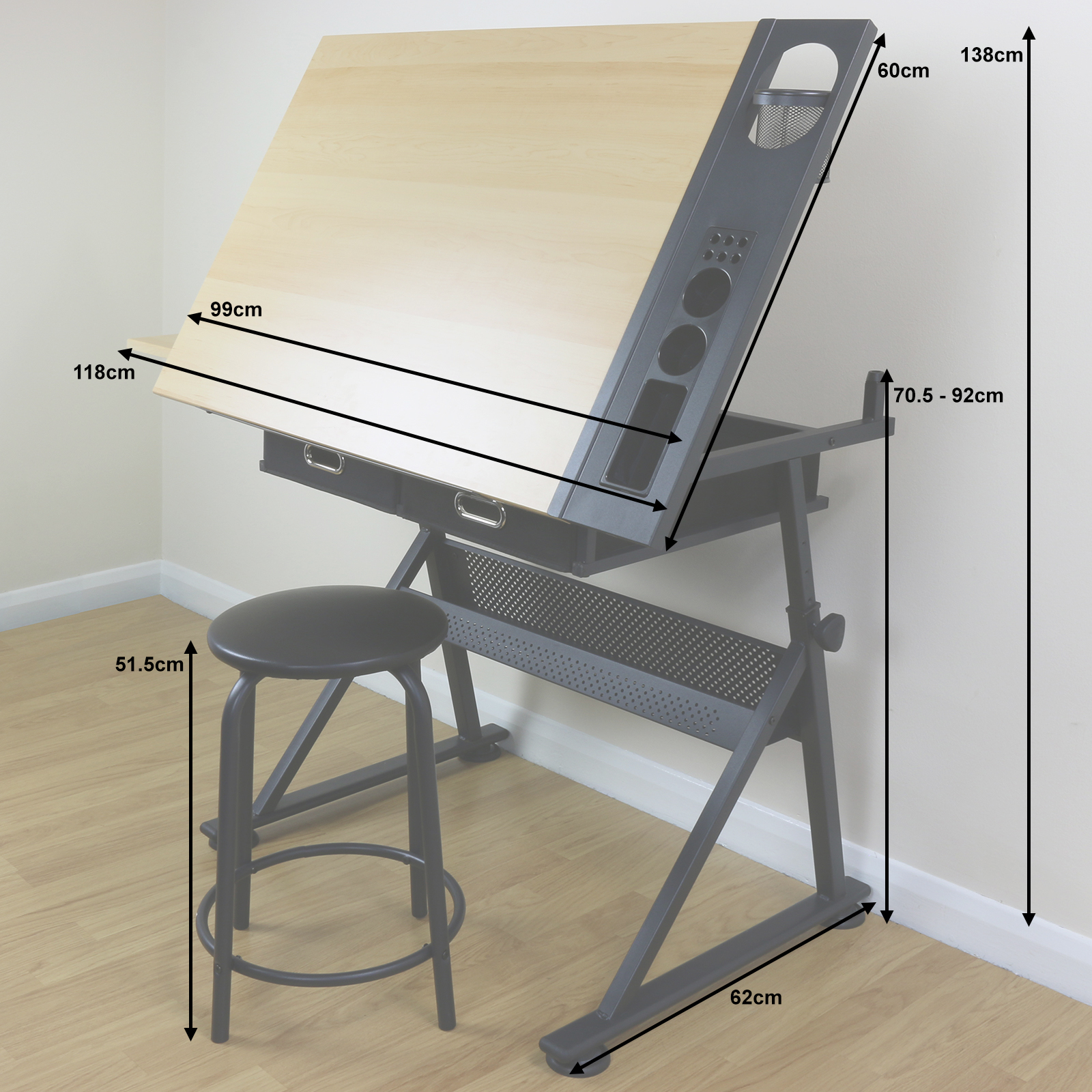 drafting table chair height distressed leather desk adjustable drawing board with stool craft