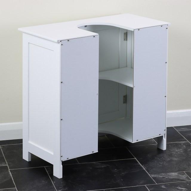 Classic White Under Sink Storage Vanity Unit Bathroom Cupboard