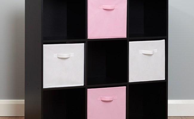 Black 9 Cube Kids Pink White Toy Games Storage Unit