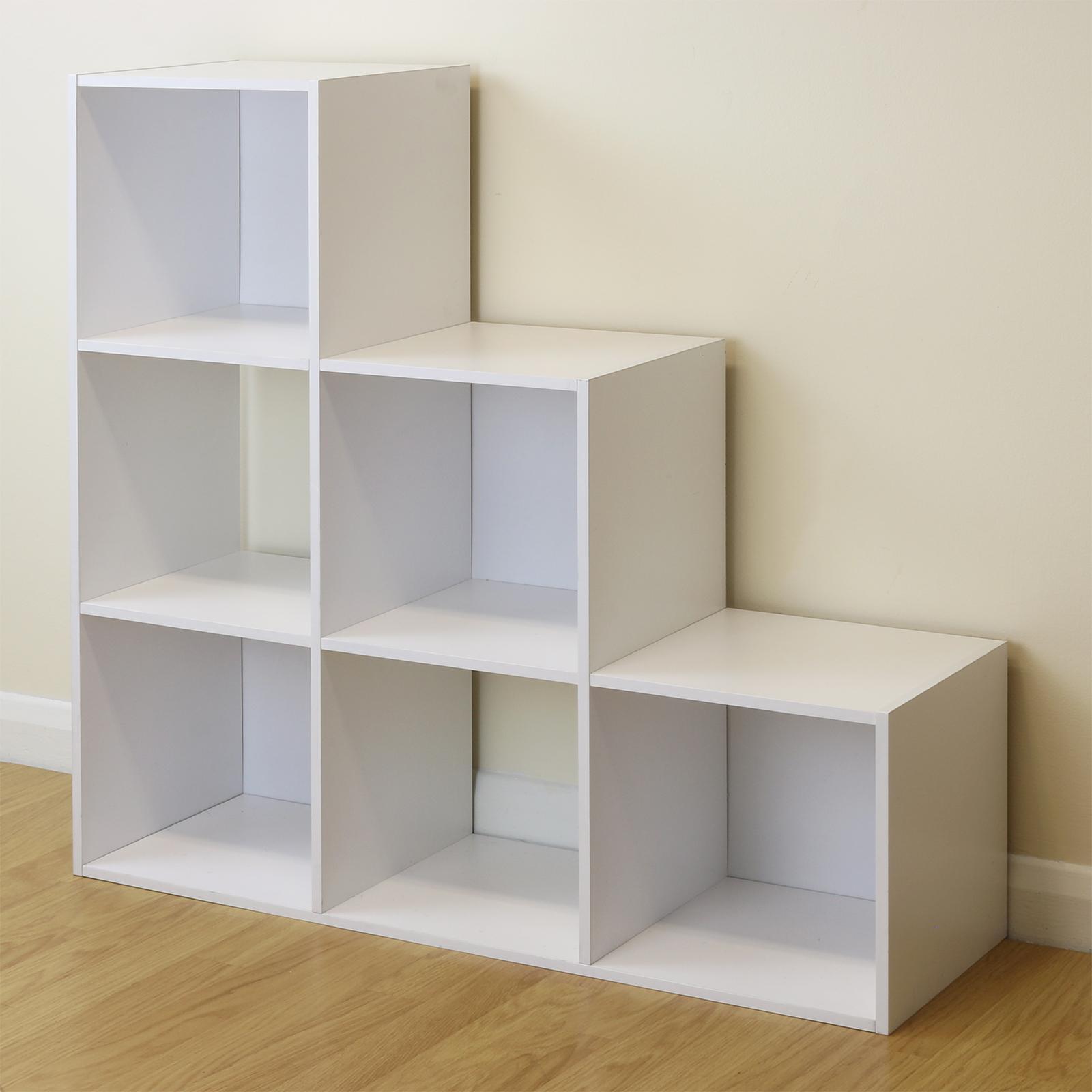 6 Cube Kids White Toy Games Storage Unit Girls Boys Childs: Boxed Shelving