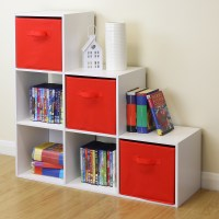6 Cube Kids White Toy/Games Storage Unit Girls/Boys/Childs ...
