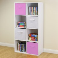8 Cube Kids Pink & White Toy/Games Storage Unit Girls/Boys ...