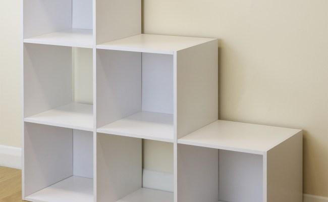White 6 Cube Kids Toy Games Storage Unit Girls Boys